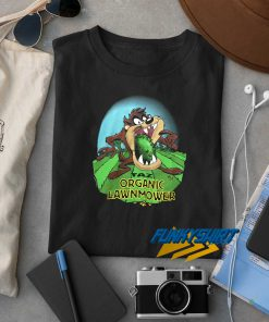 Taz Organic Lawnmower t shirt