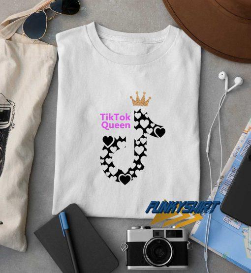 Tik Tok Queen Heart t shirt