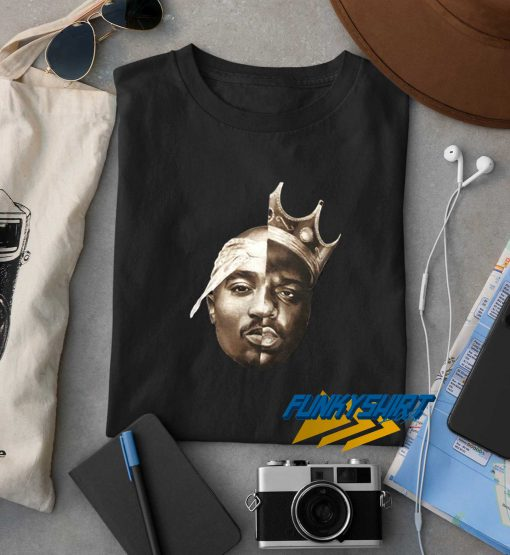 Tupac And Biggie Face t shirt