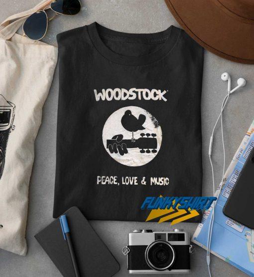 Woodstock Peace Love Music t shirt
