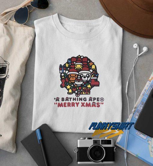 A Bathing Ape Christmas t shirt