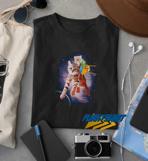 Adventure Time Finn Space Kitty t shirt