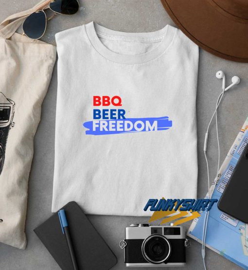 BBQ Beer Freedom t shirt