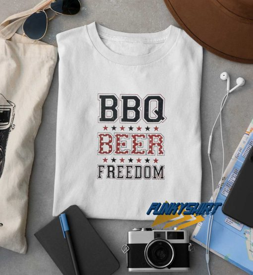 BBQ Beer Freedom Logo t shirt