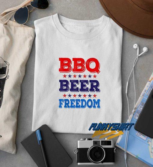 BBQ Beer Freedom Stars t shirt