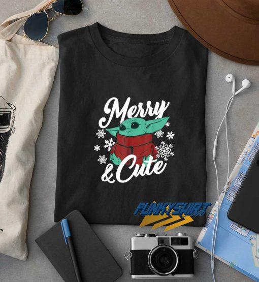 Baby Yoda Merry N Cute t shirt