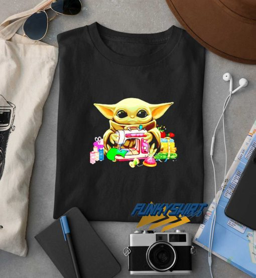 Baby Yoda Sewing Quilting t shirt