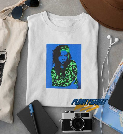 Billie Eilish Blue And Green Photo t shirt