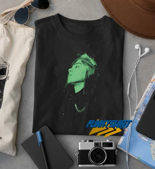 Billie Eilish Green Face t shirt