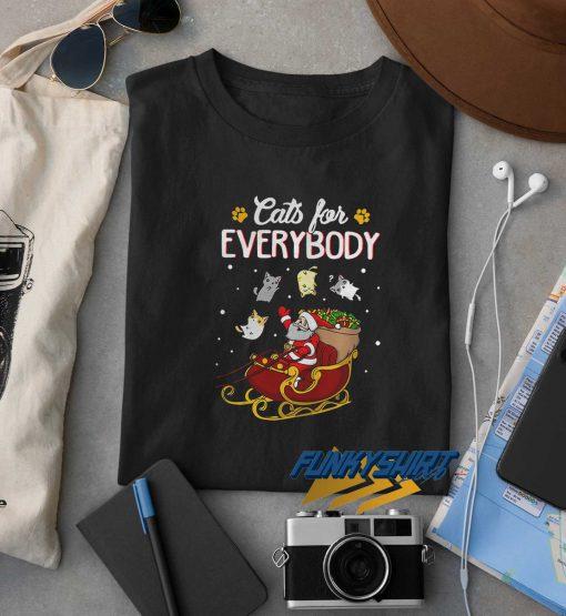 Cats For Everybody Santa Christmas t shirt