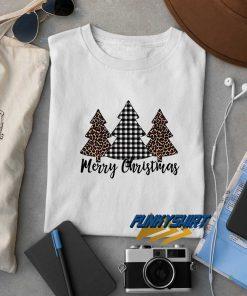 Christmas Leopard Plaid Tree t shirt