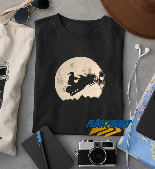 Christmas Moon Santa t shirt