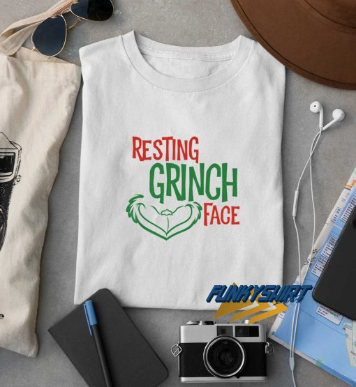 Christmas Resting Grinch Face t shirt
