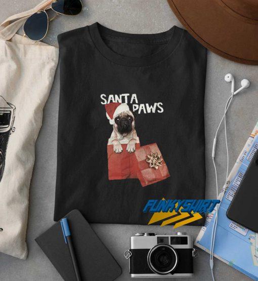 Christmas Santa Paws t shirt