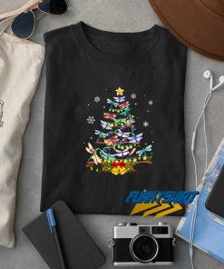 Dragonfly Christmas Tree t shirt