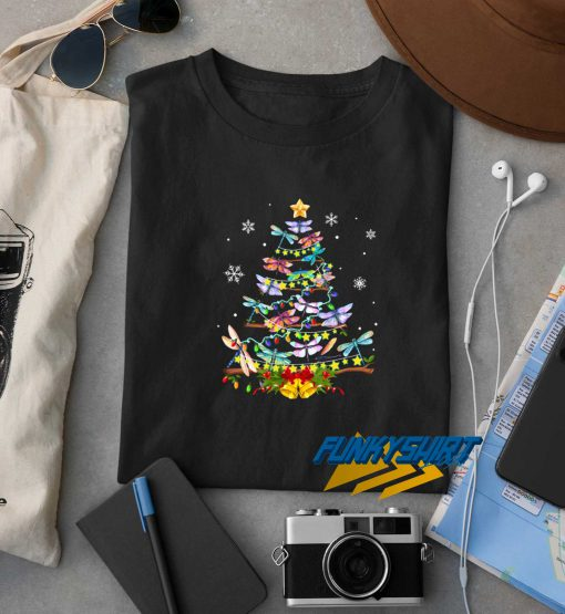 Dragonfly Christmas Tree t shirt