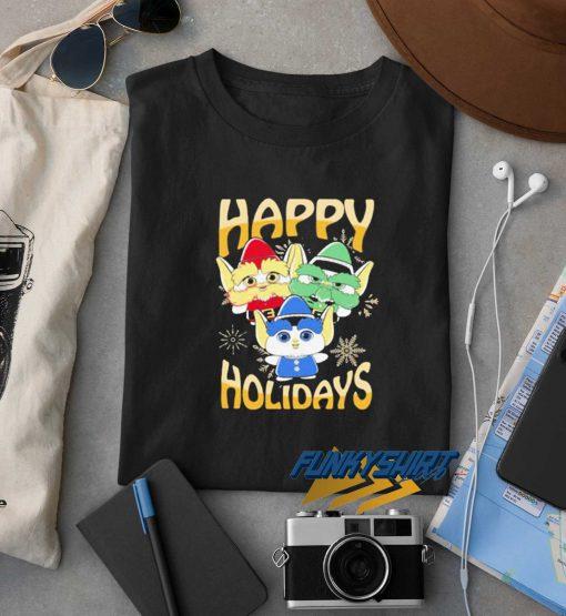 Elves Happy Holidays t shirt