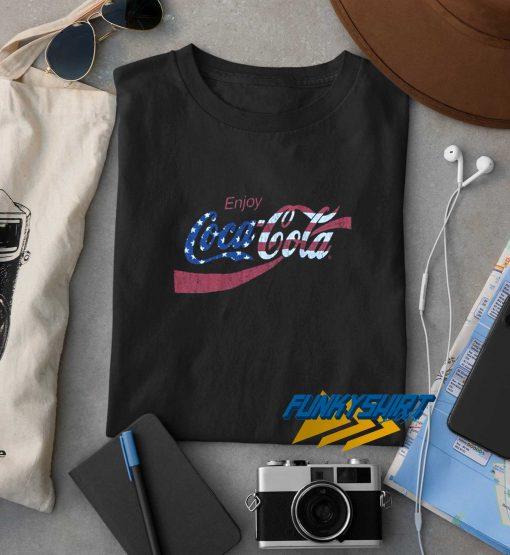 Enjoy Coca Cola Usa Flag t shirt