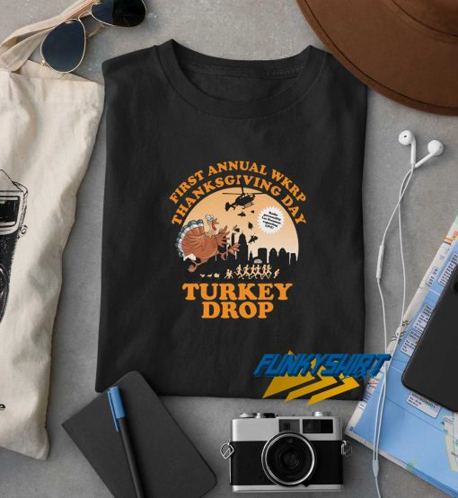 First Annual WKRP Turkey Drop t shirt
