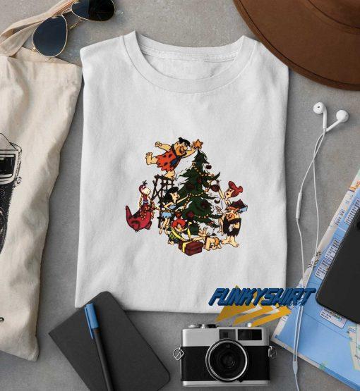 Flinstones Family Christmas Tree t shirt