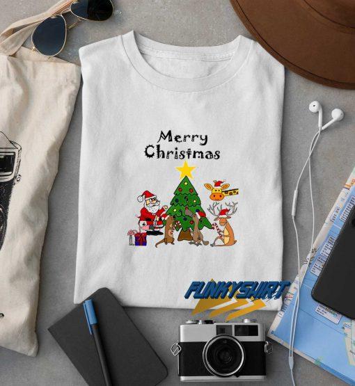 Friends Merry Christmas Cartoon t shirt
