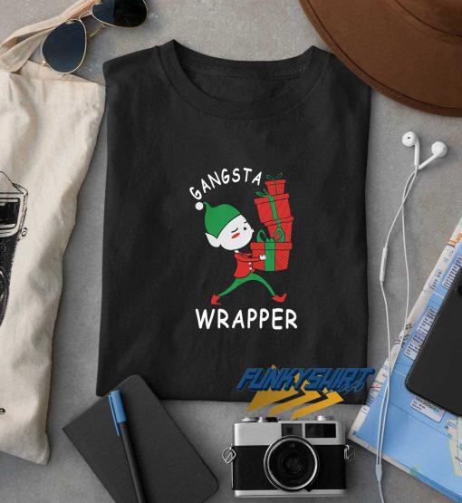 Gangsta Wrapper Elf Christmas t shirt