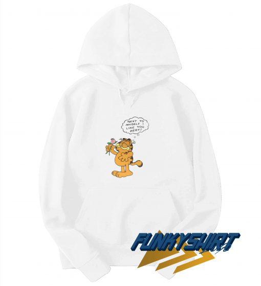 Garfield Flower Next To Myself Hoodie