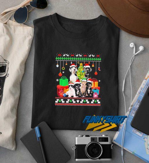 Great Danes Santa Hat Christmas t shirt