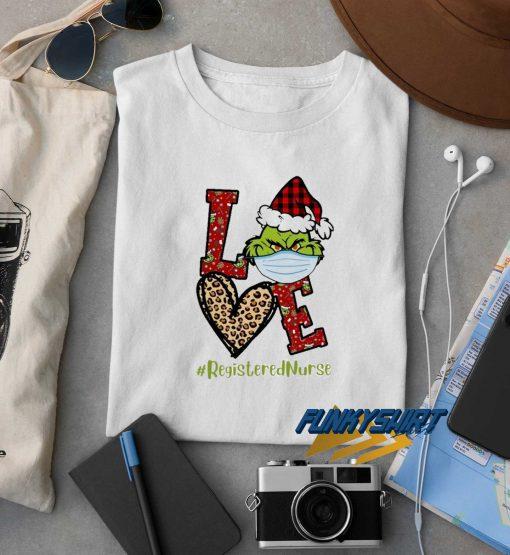 Grinch Santa Love Christmas t shirt