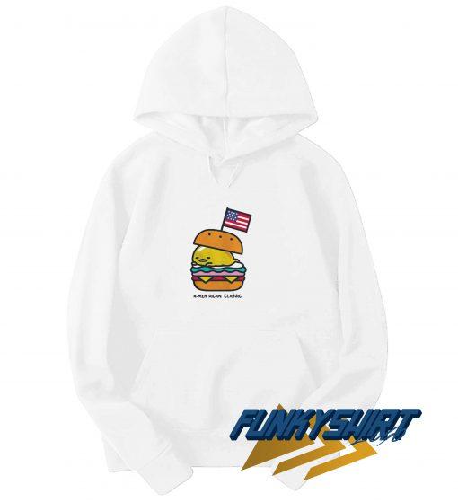 Gudetama American Burger Hoodie