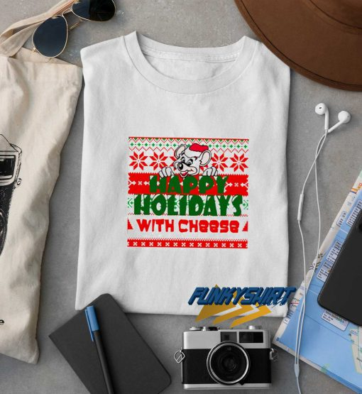 Happy Holidays With Cheese Xmas t shirt