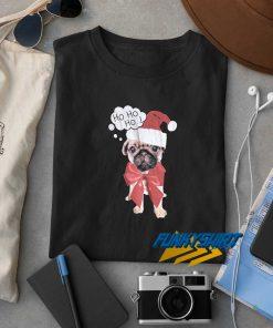 Ho Ho Ho Bow Pug Christmas t shirt