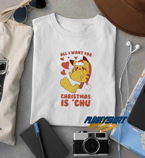 I Want Pokemon Christmas t shirt