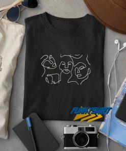 Line Art Face Print t shirt