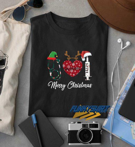 Merry Christmas Nursing Elf Reindeer t shirt