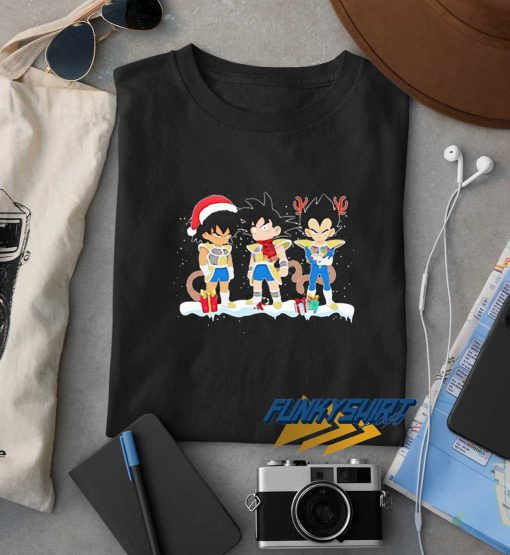 Merry Christmas Songoku Santa Snow t shirt
