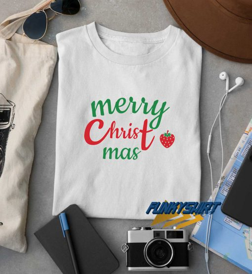 Merry Christmas Strawberry t shirt