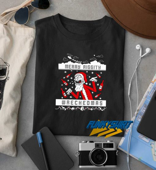 Merry Riggity Wrecked Christmas t shirt