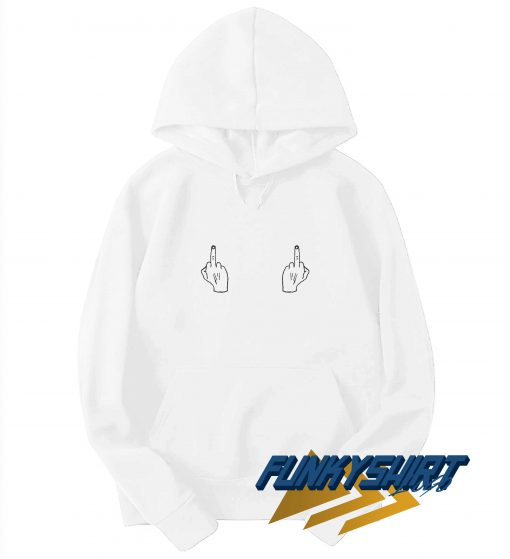 Middle Finger Titty Hoodie