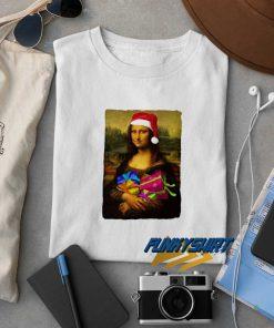 Monalisa Parody Christmas t shirt