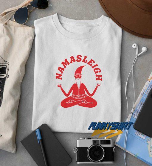 Namasleigh Yoga Santa t shirt