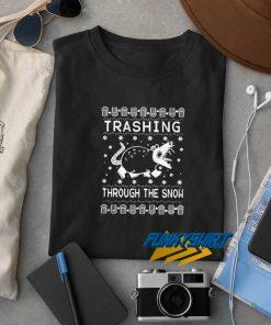Opossum Trashing Christmas t shirt
