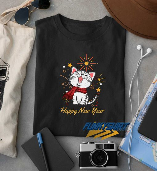 Pretty Cat Happy New Year t shirt