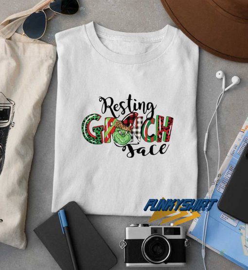 Resting Grinch Face Christmas t shirt