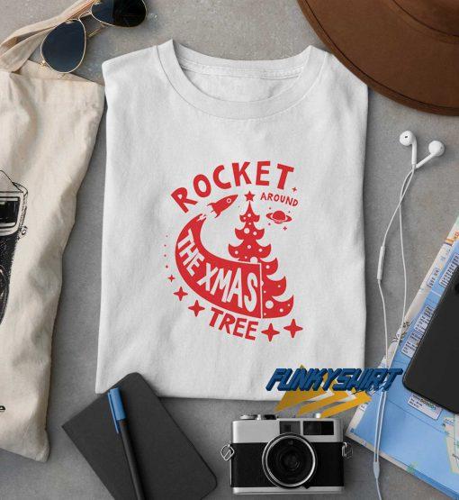 Rocket The Xmas Tree t shirt