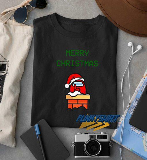 Santa Red Among Us Merry Christmas t shirt