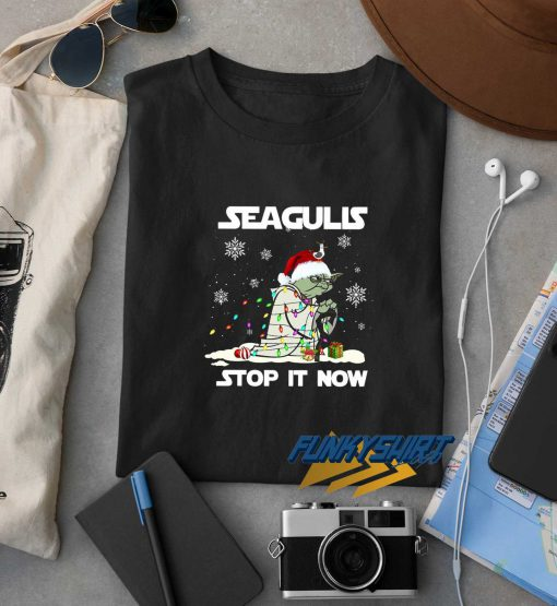 Seagulls Stop It Now Christmas t shirt