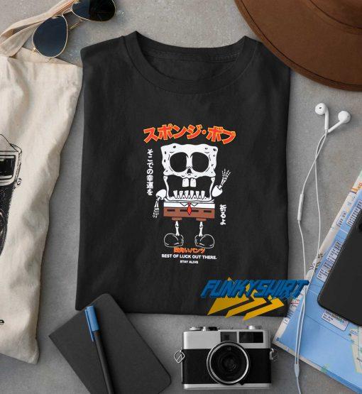 SpongeBob Best Of Luck Skeleton t shirt