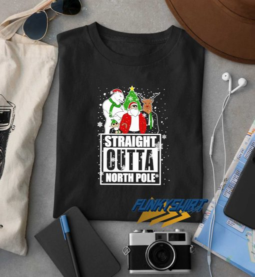 Straight Outta North Pole Christmas t shirt