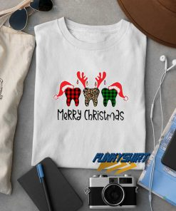 Teeth Dental Merry Christmas t shirt